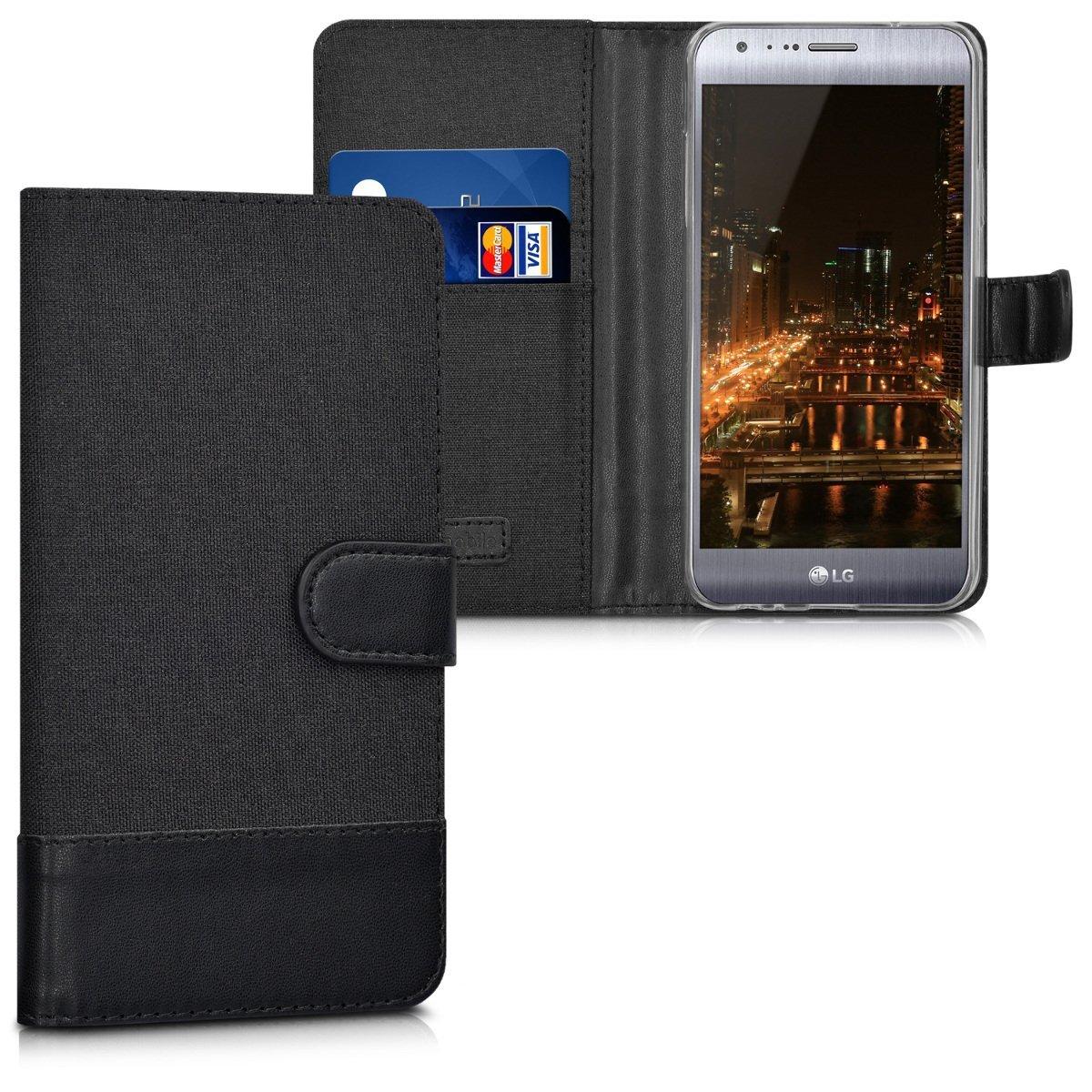 KW Θήκη - Πορτοφόλι LG X Cam - Anthracite/ Black (37211.73)