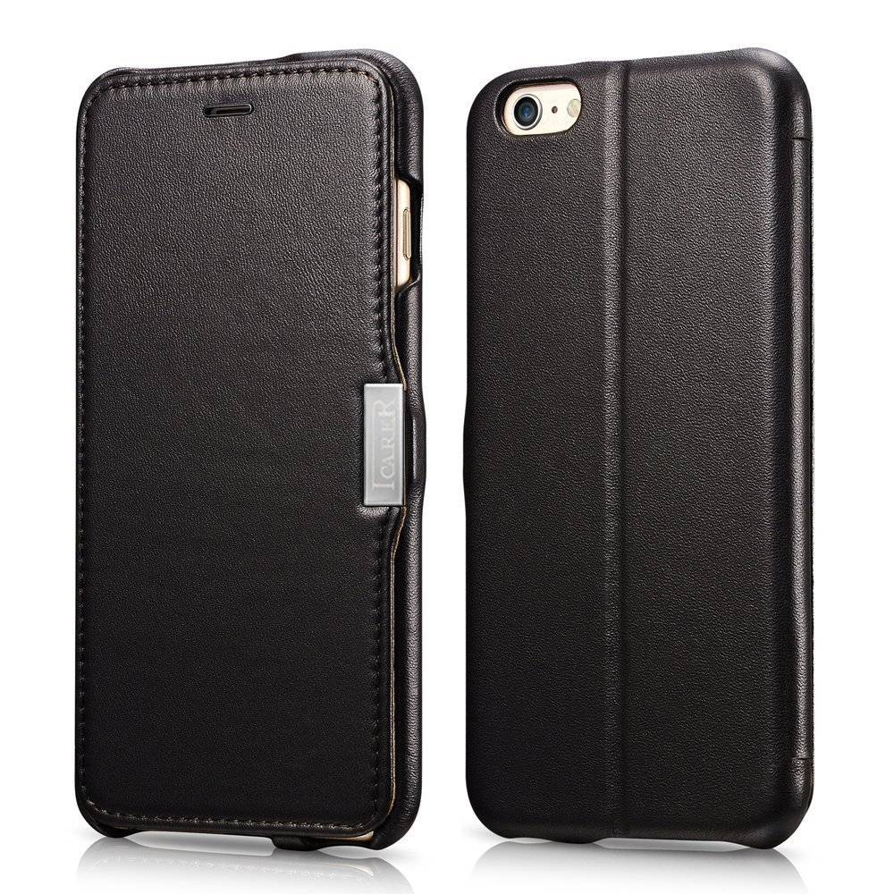 iCarer Vintage Series Side-Open Δερμάτινη Θήκη iPhone 6 Plus/6S Plus - Black (10146)