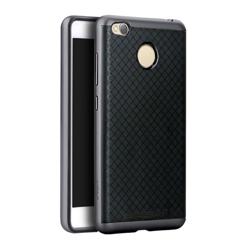 Ipaky Θήκη Hybrid Xiaomi Redmi 3S/3 Pro - Black/Grey (9320)