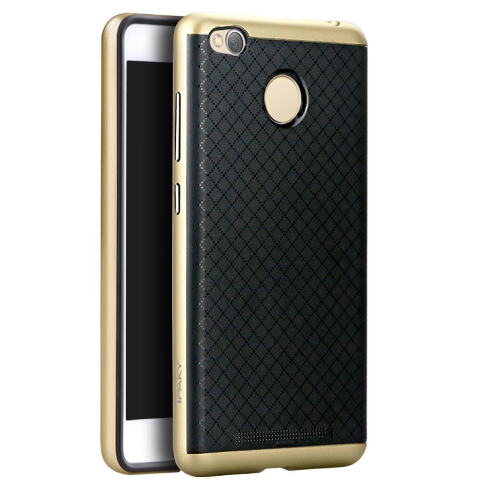 Ipaky Θήκη Hybrid Xiaomi Redmi 3S/3 Pro - Black/Gold (9321)