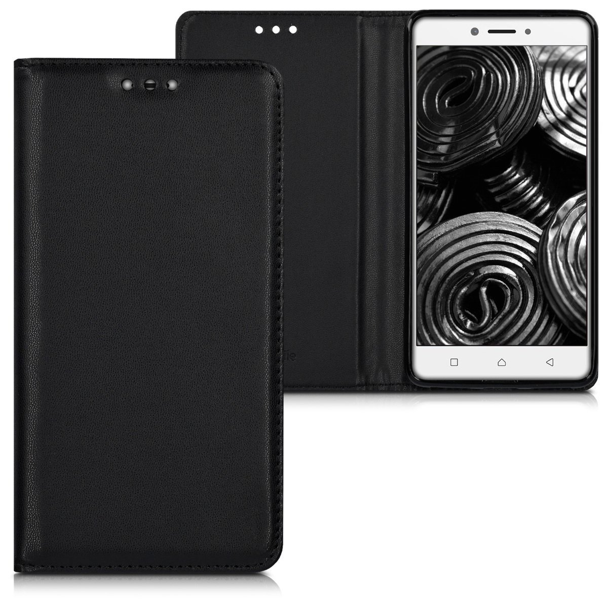 KW Flip Θήκη Lenovo K6 Note - Black (40497.01)
