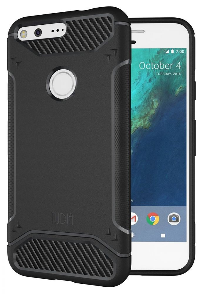 Tudia Θήκη Σιλικόνης Google Pixel - Black (TD-TPU3750)