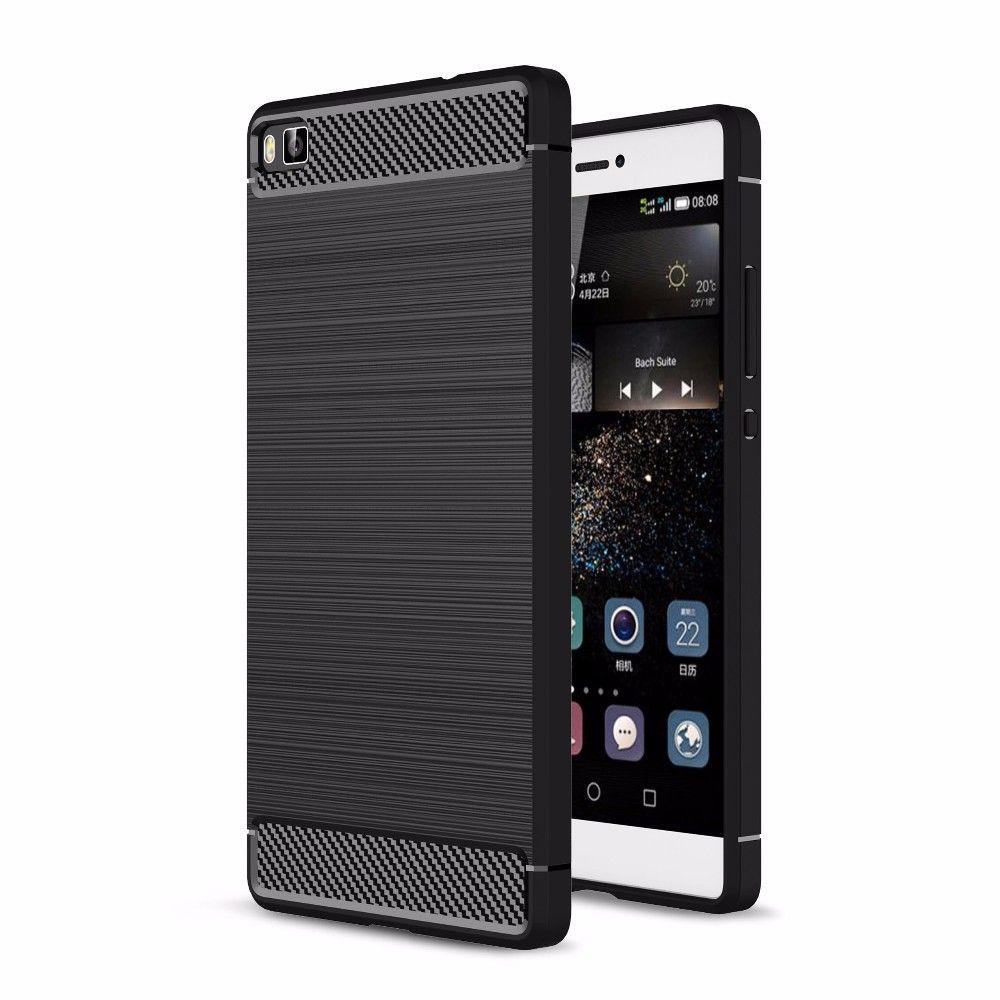 Θήκη TPU Carbon Huawei Ascend P8 - Black (9340) - OEM