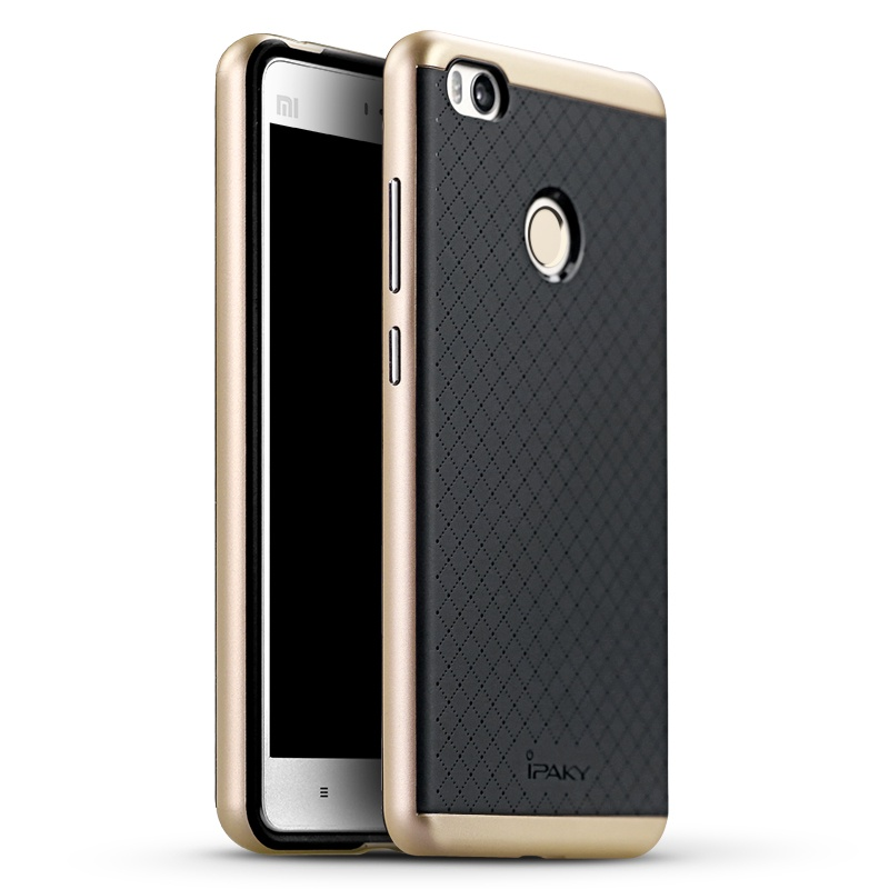 Ipaky Θήκη Hybrid Xiaomi MI4S - Black/Gold (9322)