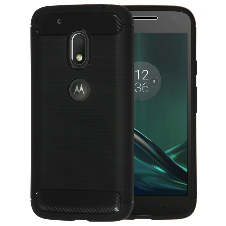 SHTL Θήκη TPU Carbon Motorola Moto G4 Play - Black (138949)