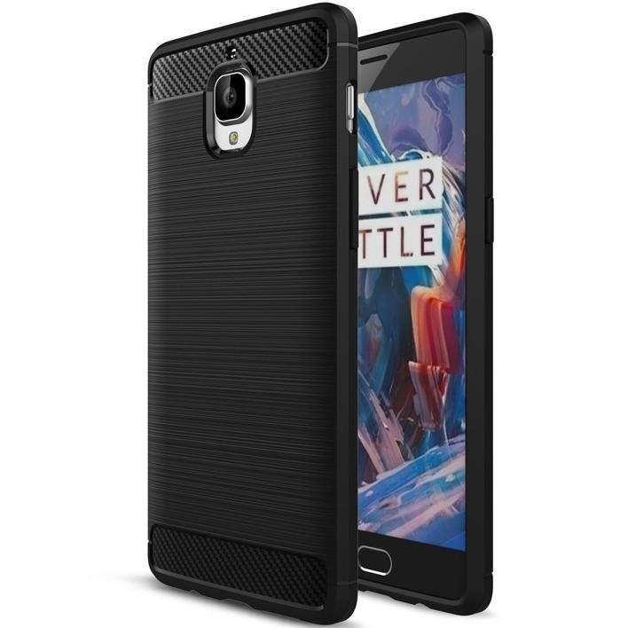 SHTL Θήκη TPU Carbon OnePlus 3/ 3T - Black (140148)