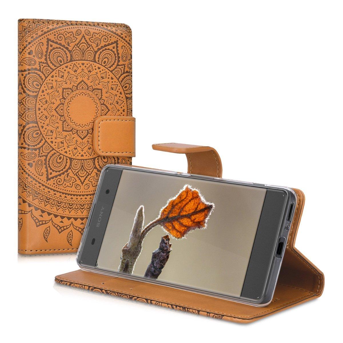 KW Θήκη Sony Xperia XA - Indian Sun in Dark Brown/ Light Brown (37315.04) Πορτοφόλι