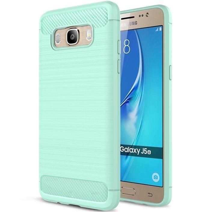 SHTL Θήκη TPU Carbon Samsung Galaxy J5 (2016) - Mint (140433)