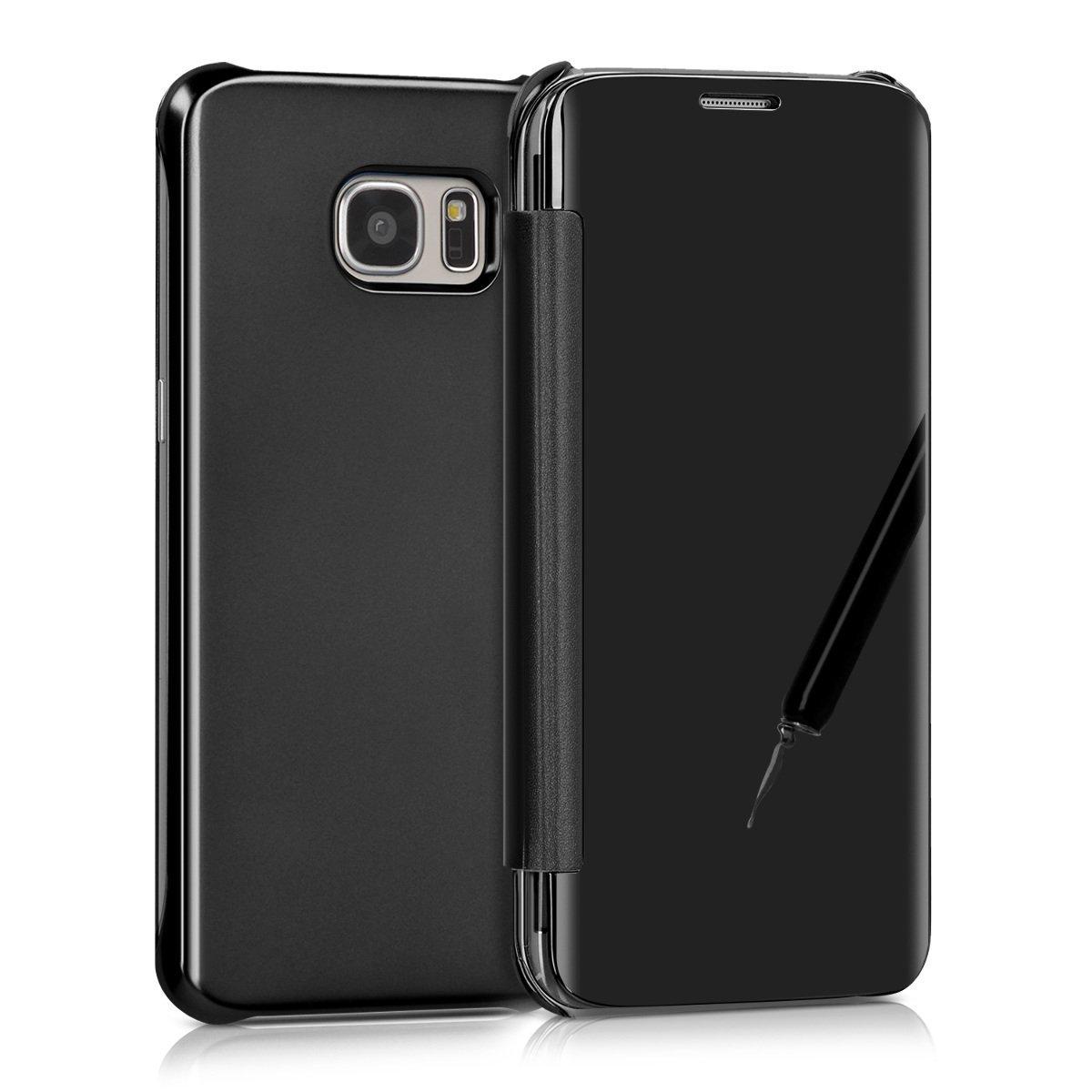 KW Mirror Flip Θήκη Samsung Galaxy S7 Edge - Black (40346.01)