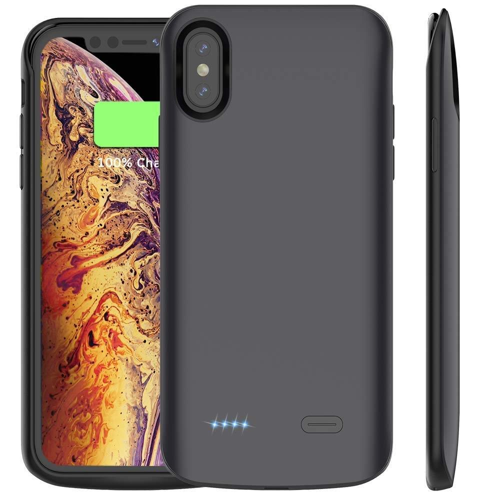 Θήκη με Ενσωματωμένη Μπαταρία 6000mAh iPhone XS Max - Fast Charge - Black (14243) - OEM