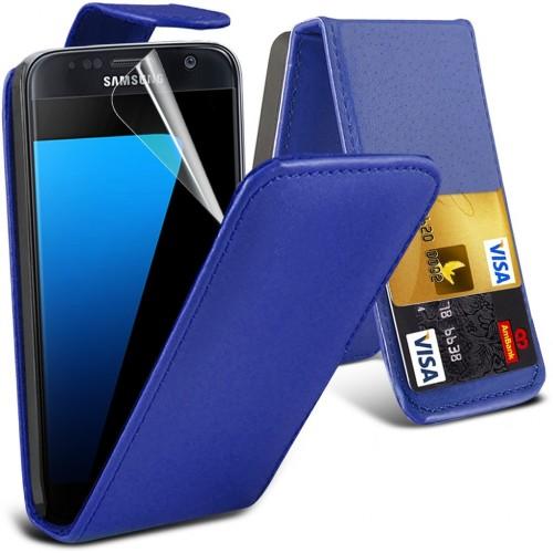 Flip Θήκη Samsung Galaxy S7 - Μπλέ (9967) - OEM