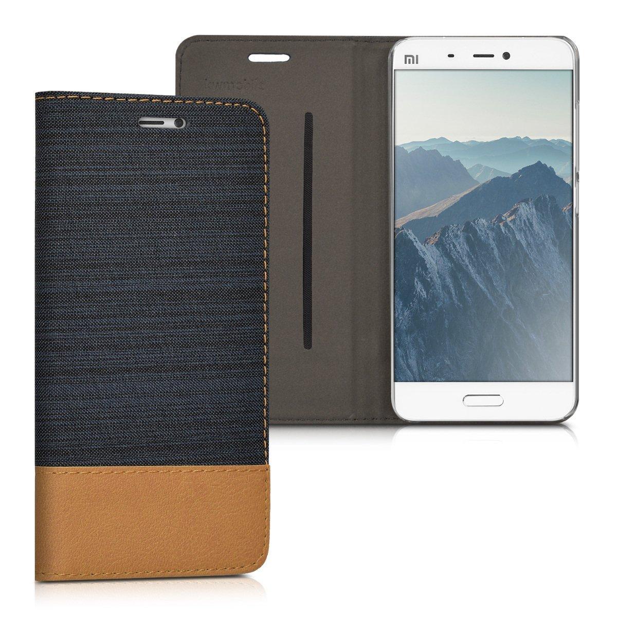 KW Θήκη - Πορτοφόλι Xiaomi Mi 5 - Dark Blue/ Brown (38215.17)
