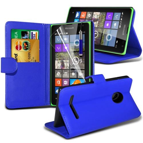 Θήκη - Πορτοφόλι Microsoft Lumia 532 - Μπλέ (9774) - OEM