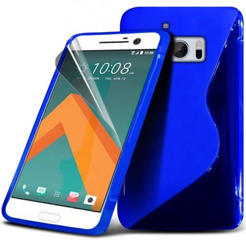 Θήκη S-Line Σιλικόνης HTC 10 - Μπλέ (9720) - OEM θήκες κινητών