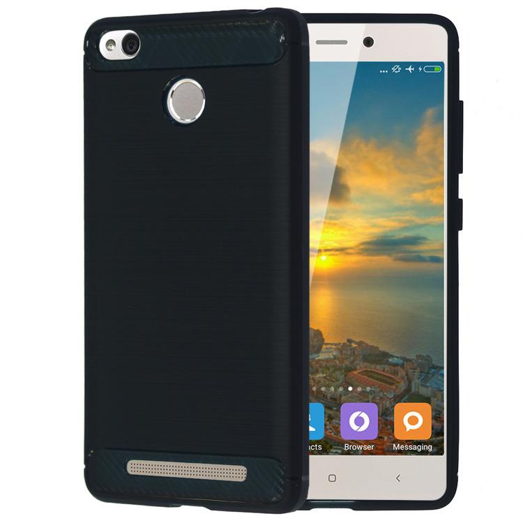 SHTL Θήκη TPU Carbon Xiaomi Redmi 3S/3 Pro - Dark Blue (139450)