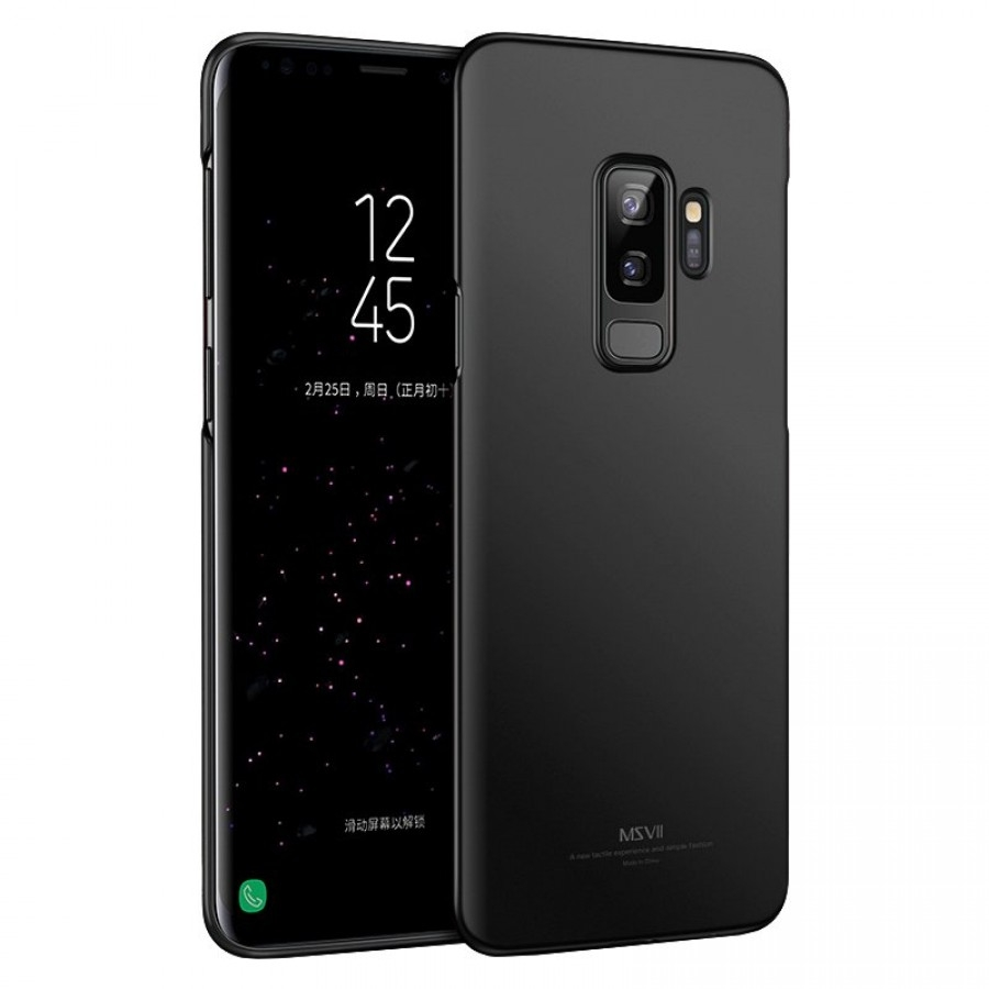 MSVII Super Slim Σκληρή Θήκη Samsung Galaxy S9 Plus - Black (K3-05a)