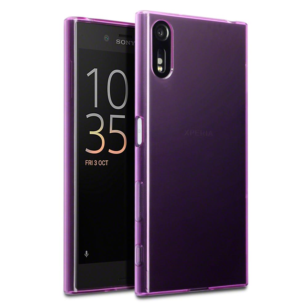 Terrapin Ημιδιάφανη Θήκη Σιλικόνης Sony Xperia XZ/ XZs (118-005-332) - Purple