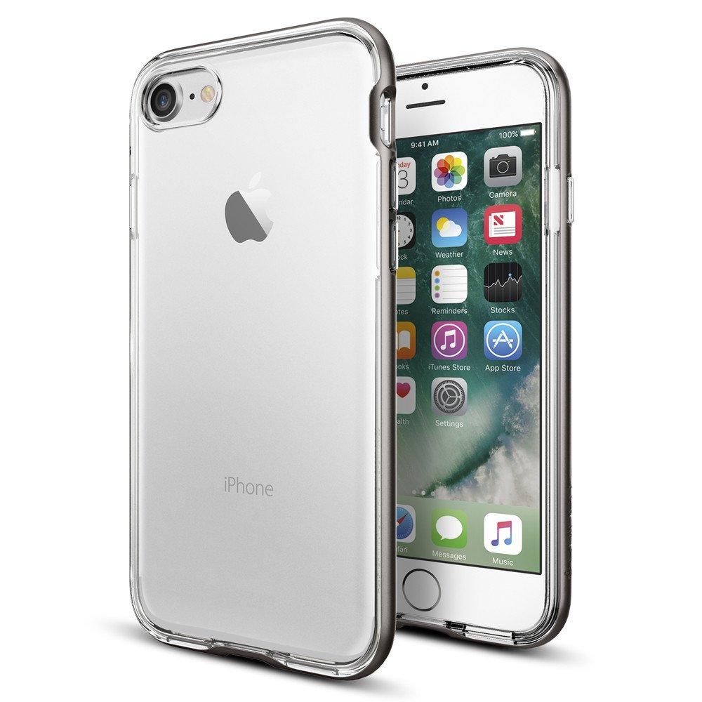 Spigen Θήκη Neo Hybrid Crystal iPhone 7 - Gunmetal (042CS20522) θήκες κινητών