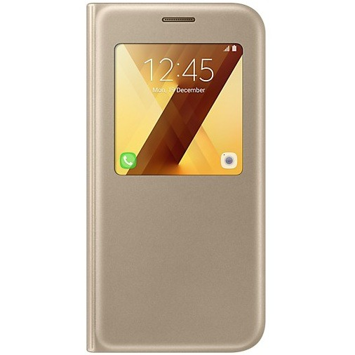 Official S-View Standing Cover Θήκη Samsung Galaxy A5 2017 - Gold (EF-CA520PFEGWW)