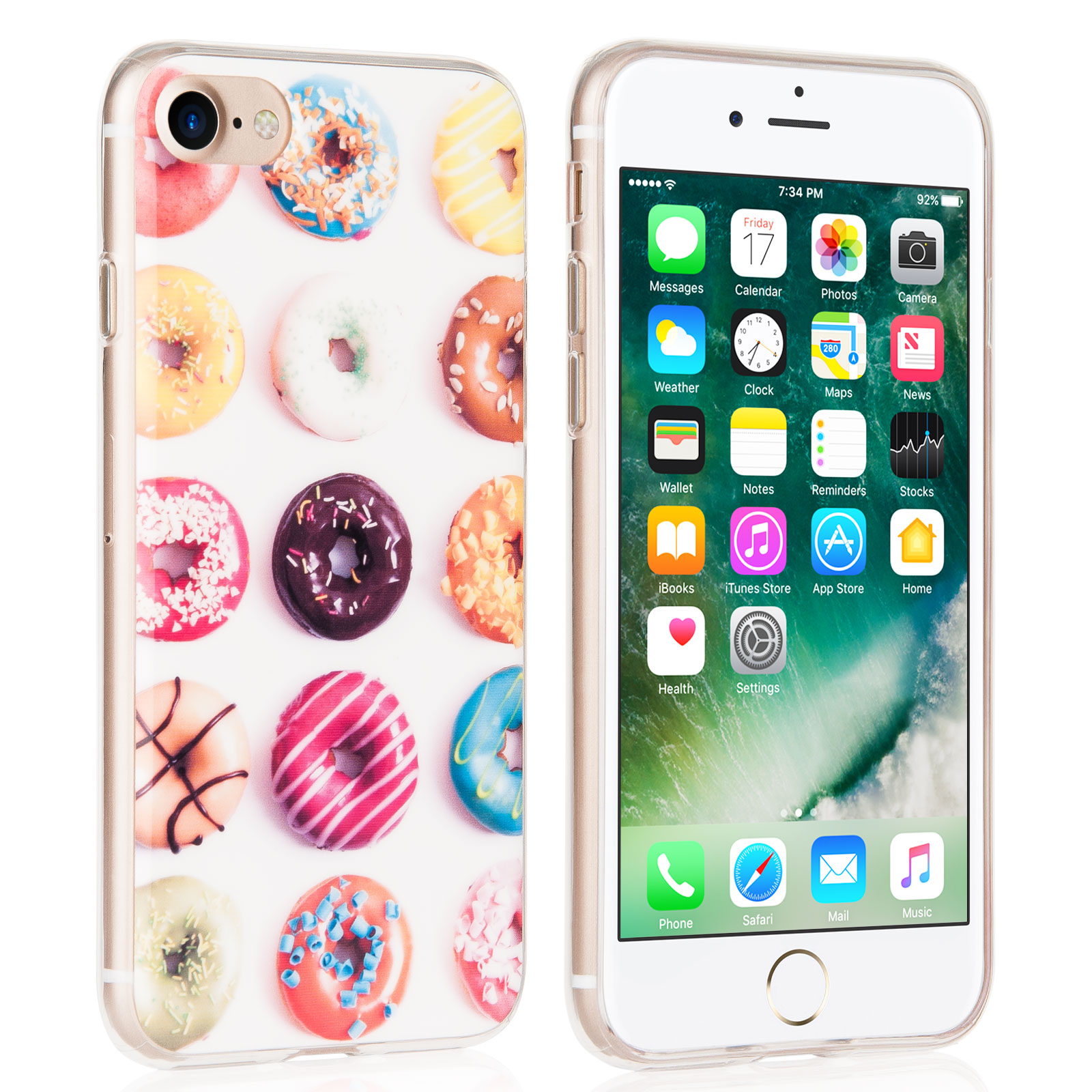 Yousave Θήκη Σιλικόνης iPhone 8 / 7 - Doughnut