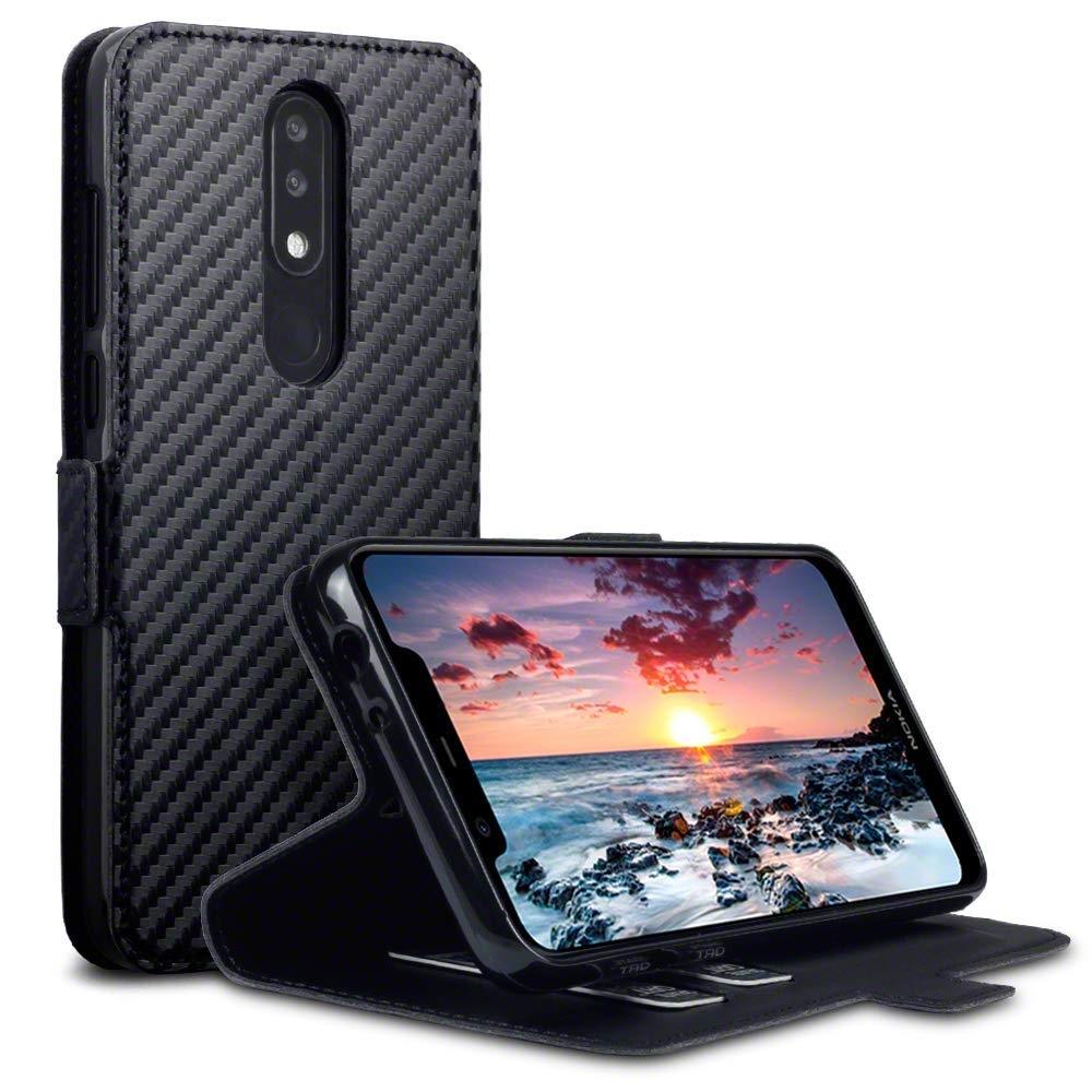 Terrapin Θήκη - Πορτοφόλι Nokia 5.1 Plus - Black Carbon (117-001-316)