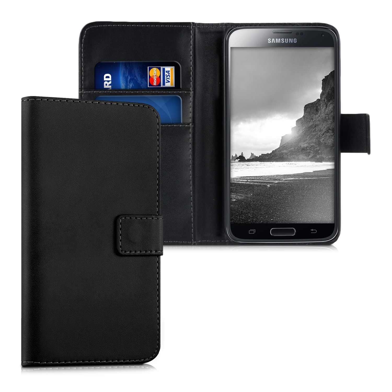 KW Θήκη - Πορτοφόλι Samsung Galaxy S5/S5 Neo - Black (18070.01)