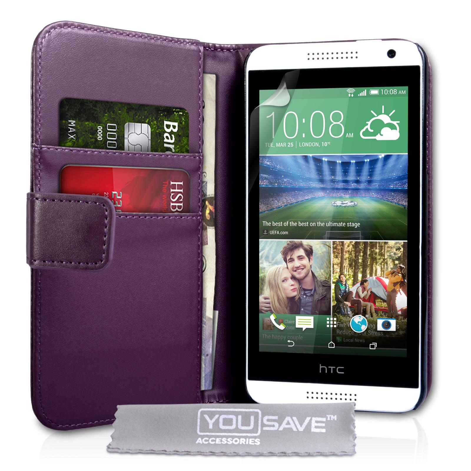 Θήκη HTC Desire 610 - Πορτοφόλι by YouSave (Z451-610)