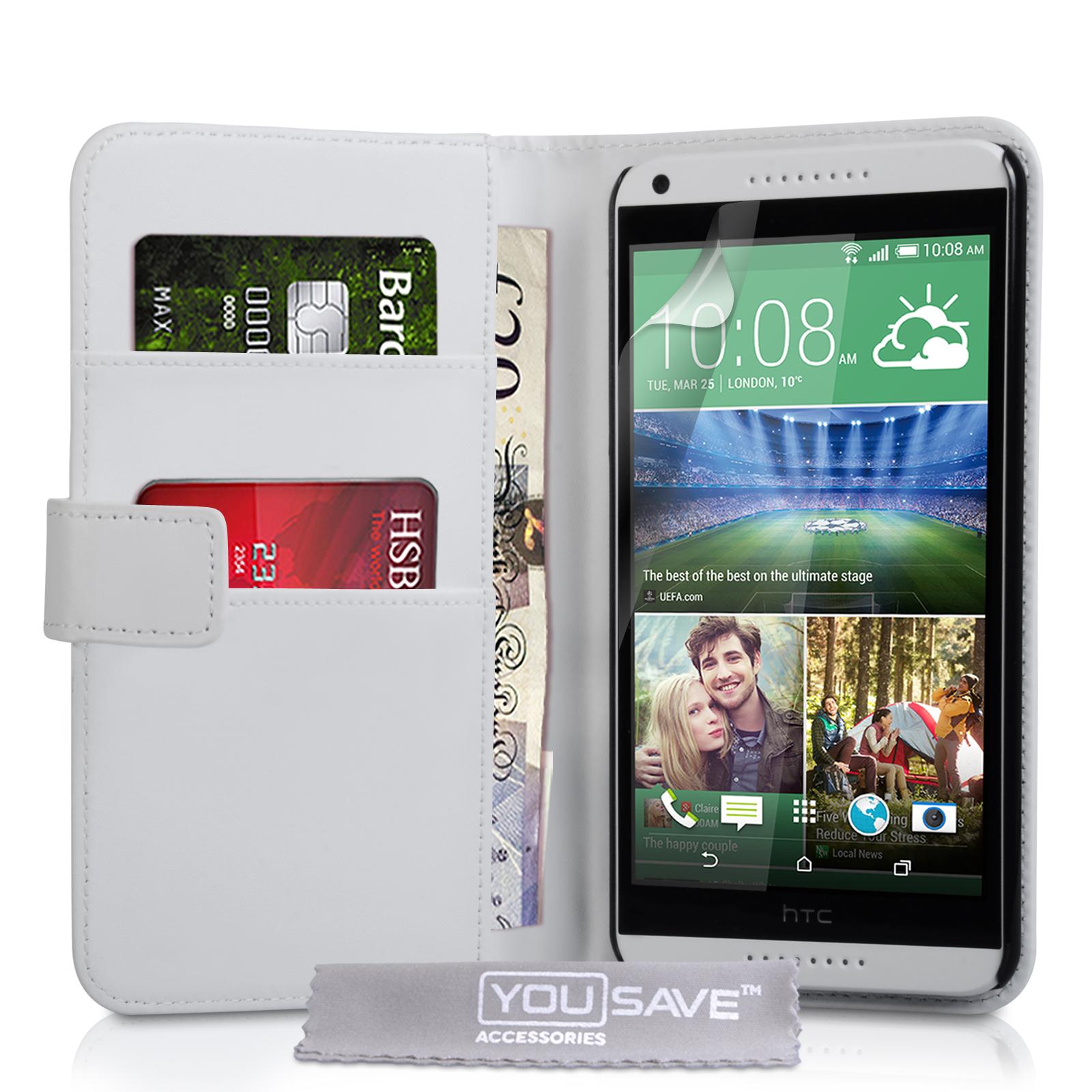 Θήκη HTC Desire 816 - Πορτοφόλι by YouSave (Z410)