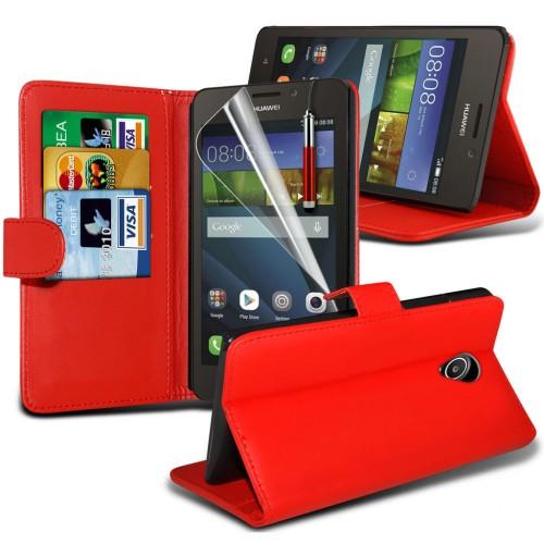 Θήκη - Πορτοφόλι Huawei Ascend Y635 Κόκκινο - OEM (10757)