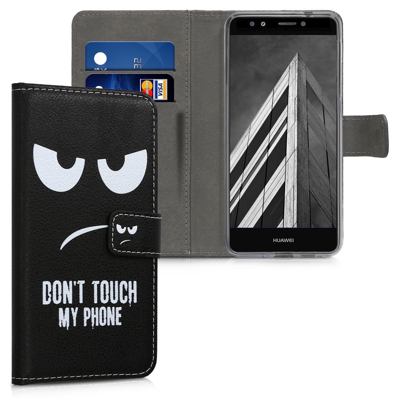 KW Θήκη - Πορτοφόλι Huawei Y7 / Y7 Prime 2018 - Don't Touch My Phone (45924.01)