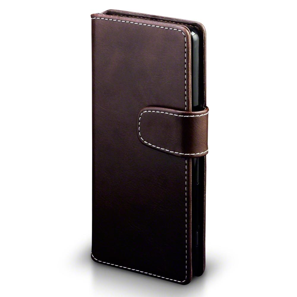 Terrapin Θήκη Sony Xperia XA - Πορτοφόλι (117-005-433) - Brown White Stitching