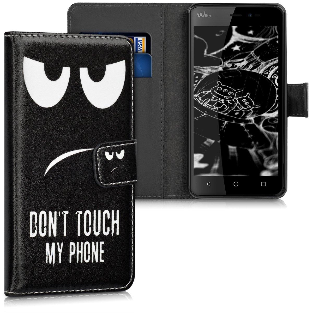 KW Θήκη - Πορτοφόλι Wiko Freddy - Don't Touch My Phone (39955.01)