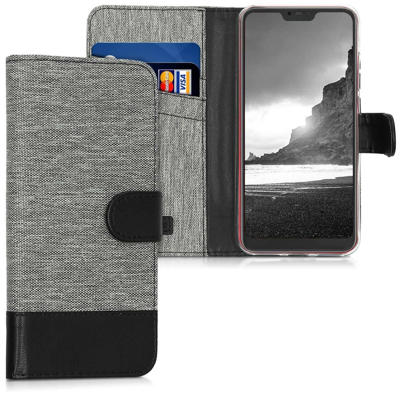 KW Θήκη - Πορτοφόλι Xiaomi Mi A2 Lite / Redmi 6 Pro - Grey / Black (45619.22)