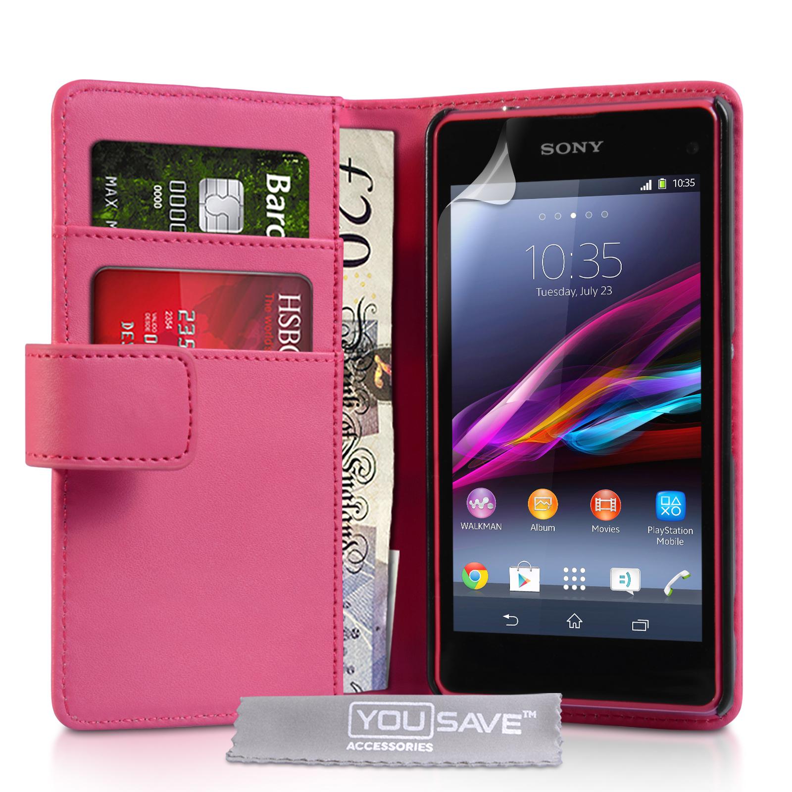 Θήκη Sony Xperia Z1 Compact - Πορτοφόλι by YouSave (Z930)