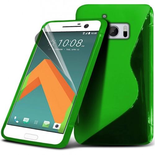 Θήκη S-Line Σιλικόνης HTC 10 - Πράσινο (9721) - OEM θήκες κινητών