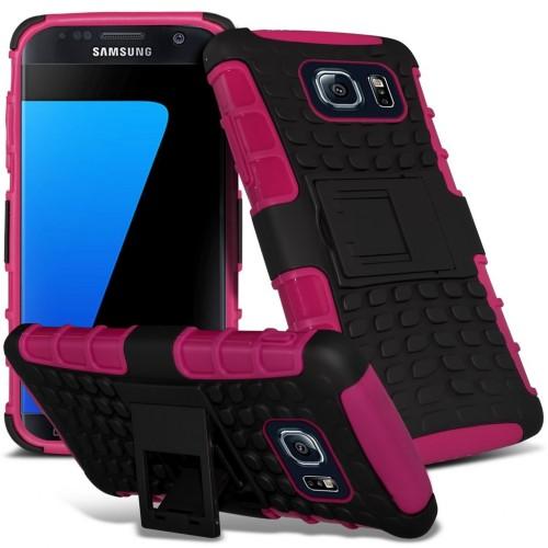 Ανθεκτική Θήκη Samsung Galaxy S7 Edge - Ροζ (9743) - OEM