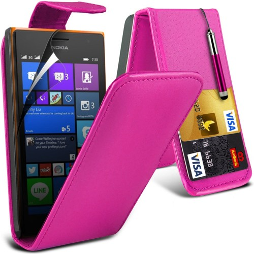 Flip Θήκη Nokia Lumia 730/735 - Ροζ (9968) - OEM