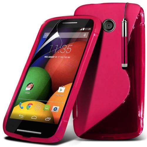 Θήκη S-Line Σιλικόνης Motorola Moto E - Ροζ (9970) - OEM