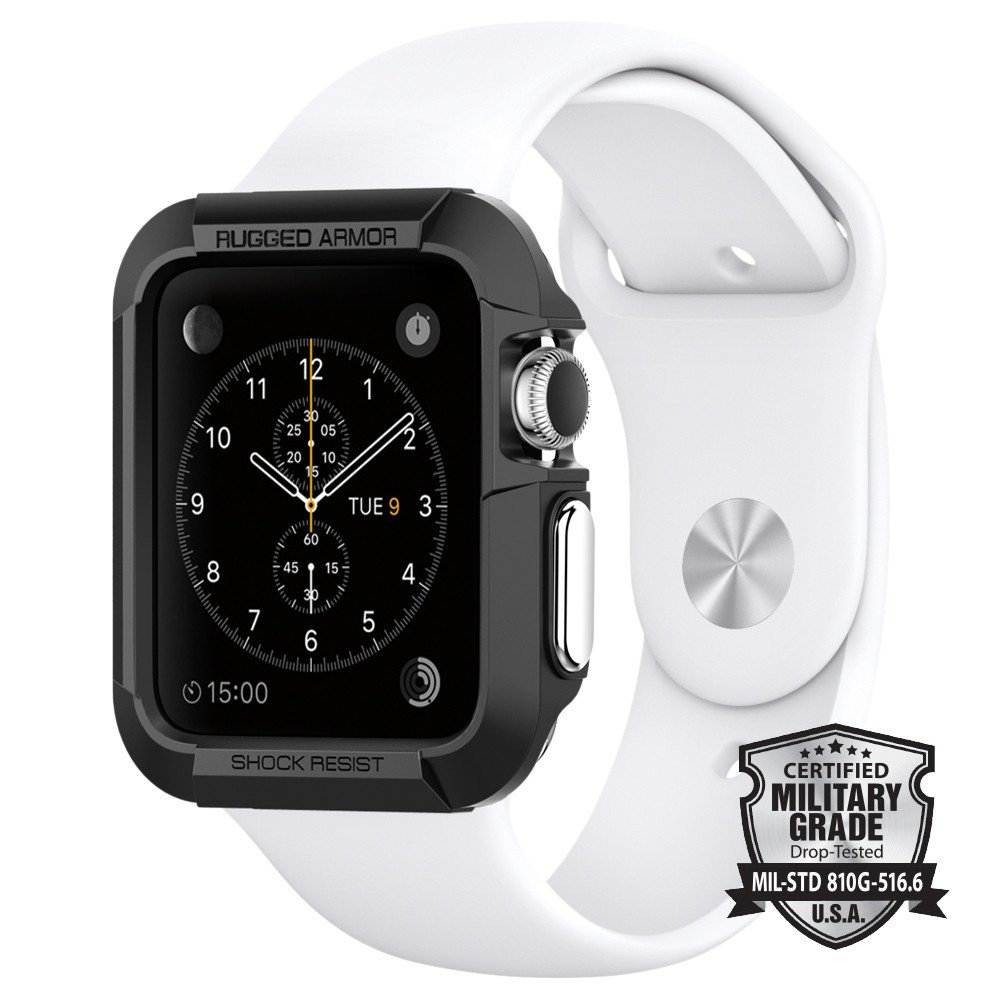 Spigen Θήκη Tough Rugged Armor Apple Watch 3/2/1 (42mm) - Black (SGP11496)
