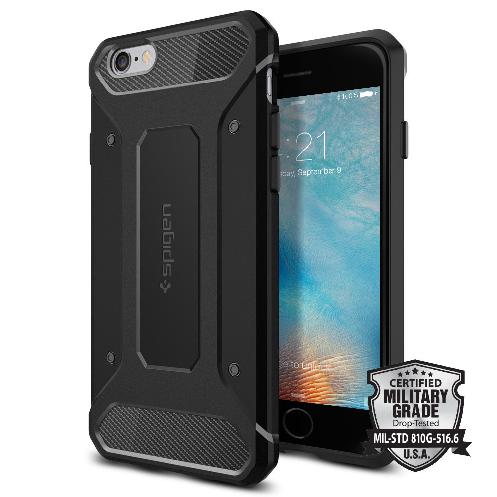 Spigen Θήκη Rugged Armor iPhone 6/6S - Black (SGP11597)