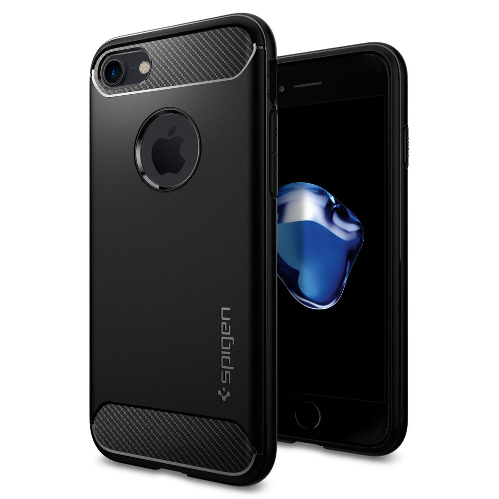 Spigen Θήκη Rugged Armor iPhone 7 - Black (042CS20441)
