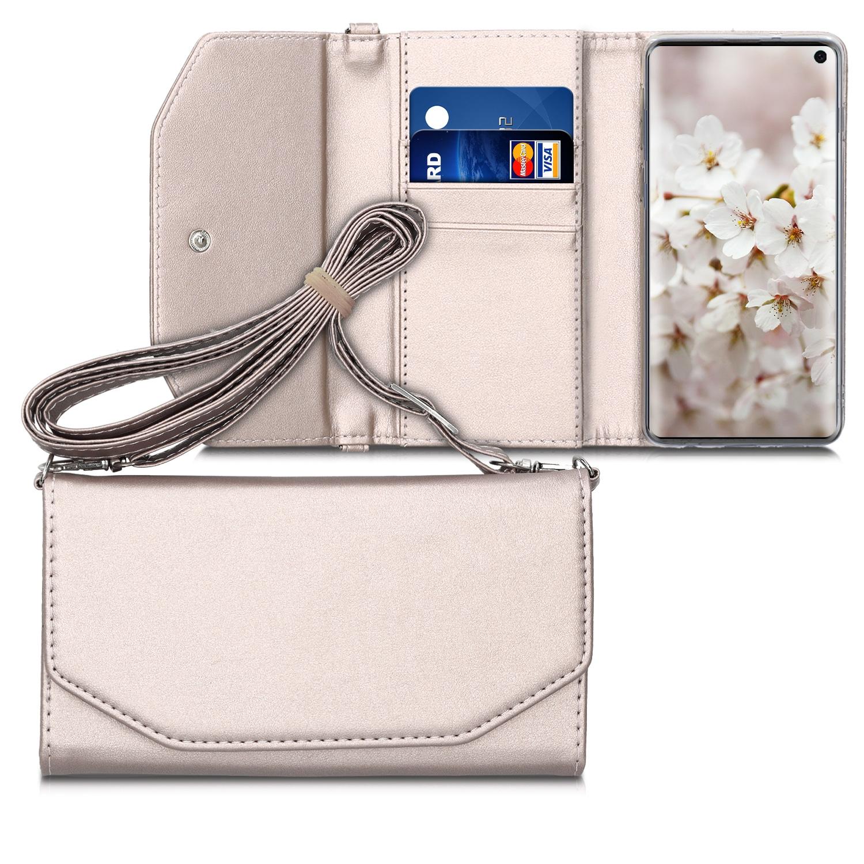 KW Θήκη - Πορτοφόλι με Λουράκι Samsung Galaxy S10 - Rose Gold (49688.81)