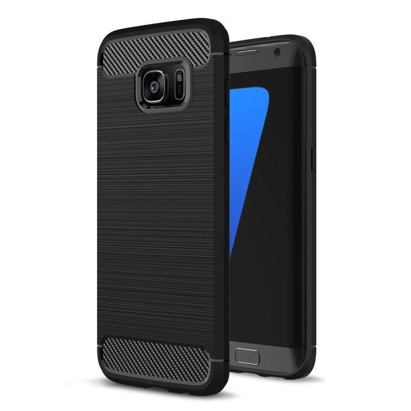 Θήκη TPU Carbon Samsung Galaxy S7 - Black (10154) - OEM