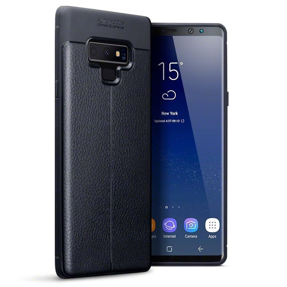 Terrapin Θήκη TPU Leather Design Samsung Galaxy Note 9 - Black (118-002-720)