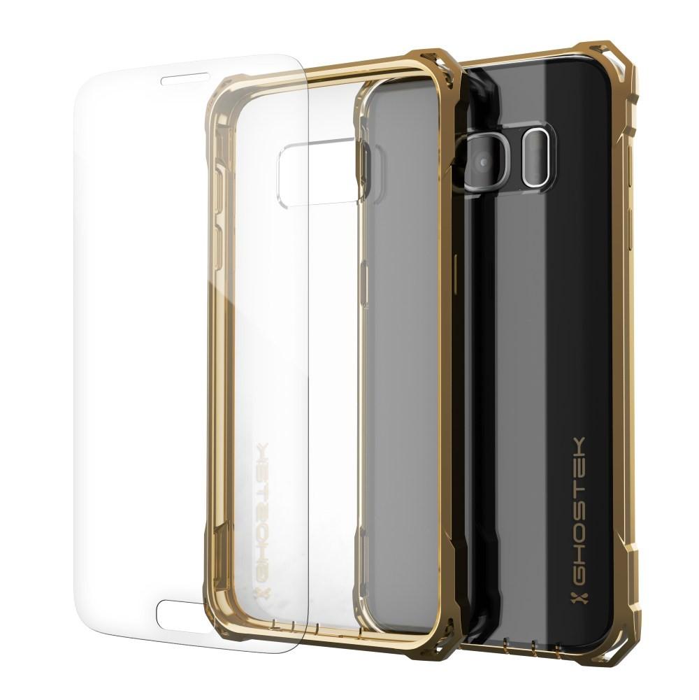 Ghostek Διάφανη Θήκη Σιλικόνης με Bumper Samsung Galaxy S7 - Gold (GHOCAS404)