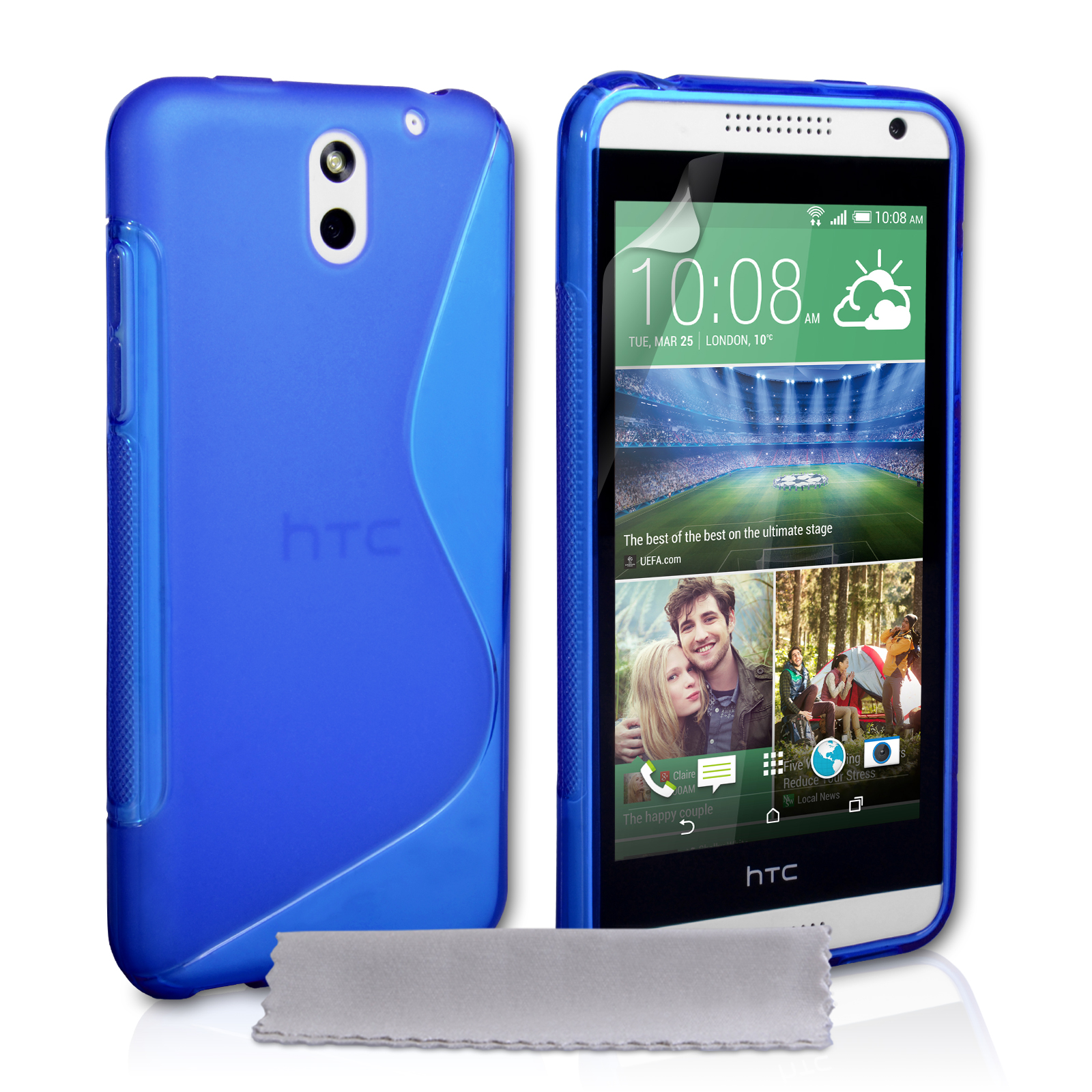 Ημιδιάφανη Θήκη HTC Desire 610 by Caseflex (Z423)
