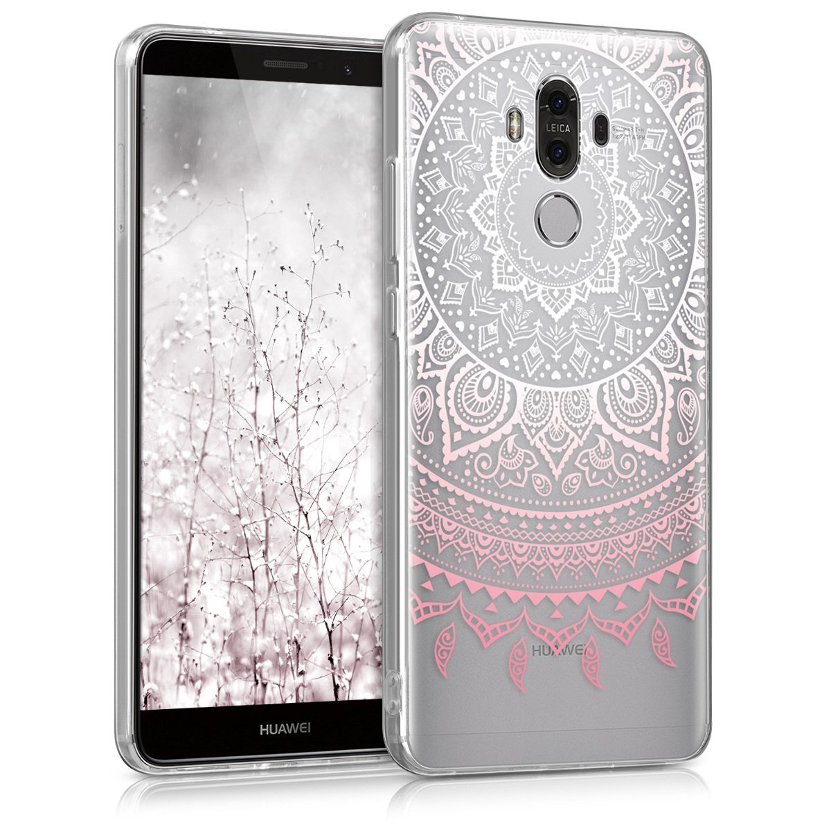 KW Θήκη Σιλικόνης Huawei Mate 9 - Light Pink/White Indian Sun (40276.01)