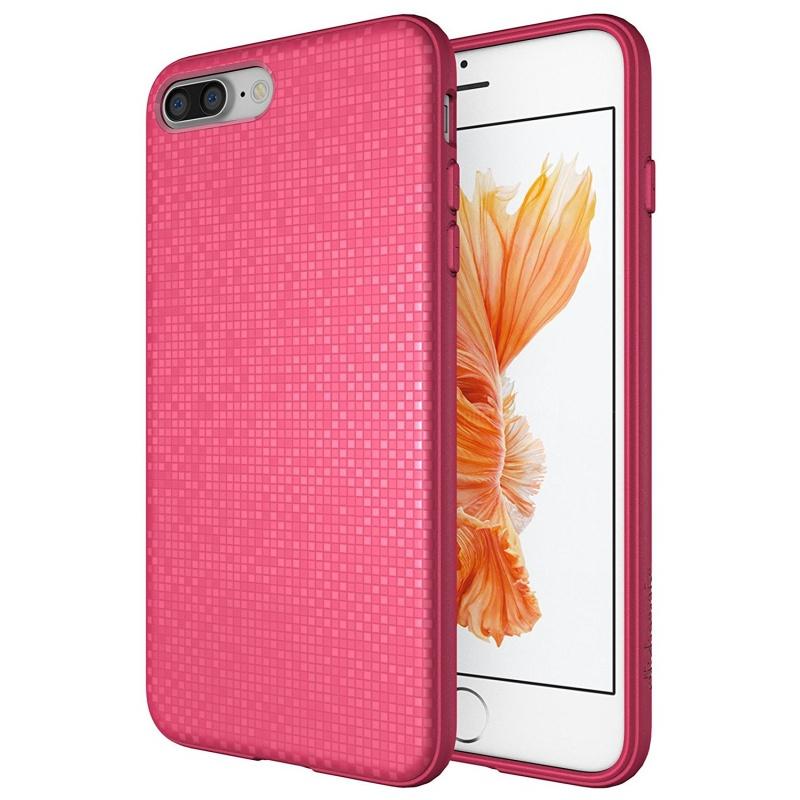 Diztronic Θήκη με Pixels Σιλικόνης iPhone 8 Plus /  iPhone 7 Plus - Pink (IP7P-PIX-PINK)