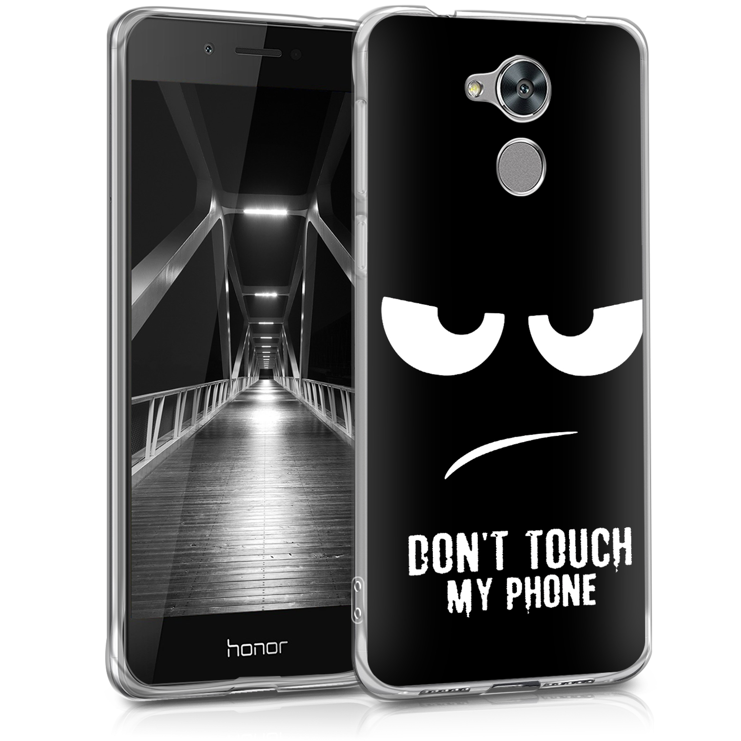 KW Θήκη Σιλικόνης Honor 6C Pro - Don't Touch My Phone (43558.02)