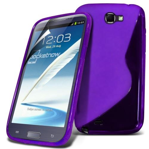 Θήκη S-Line Σιλικόνης Samsung Galaxy Note 2 - Μωβ (10019) - OEM θήκες κινητών